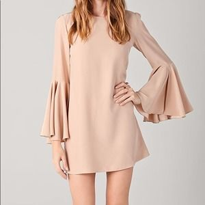 Elizabeth and James Mabel Dress Blush Bell Sleeve